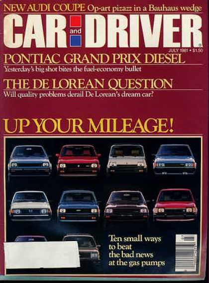 Sports Car Illustrated - July 1981