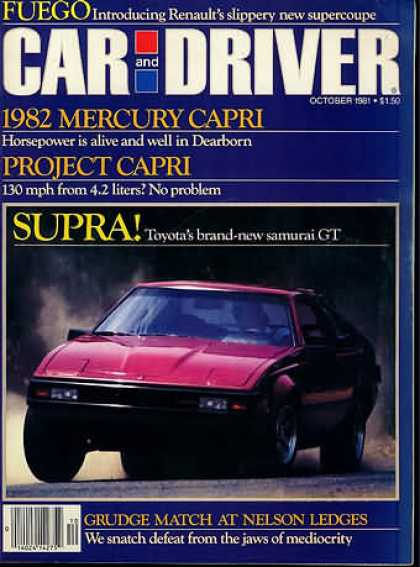 Sports Car Illustrated - October 1981