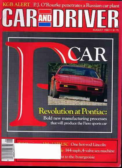 Sports Car Illustrated - August 1983