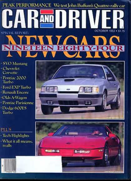 Sports Car Illustrated - October 1983