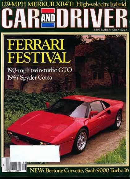 Sports Car Illustrated - September 1984