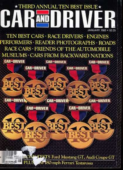 Sports Car Illustrated - January 1985