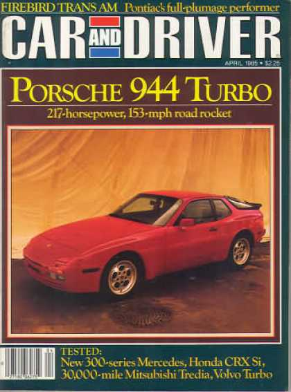 Sports Car Illustrated - April 1985