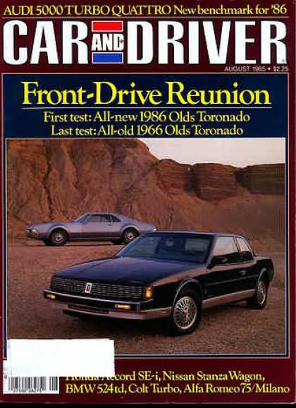 Sports Car Illustrated - August 1985