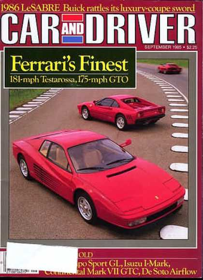 Sports Car Illustrated - September 1985