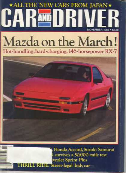 Sports Car Illustrated - November 1985