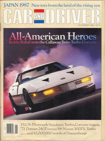 Sports Car Illustrated - November 1986