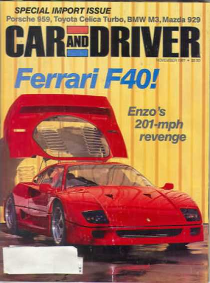 Sports Car Illustrated - November 1987