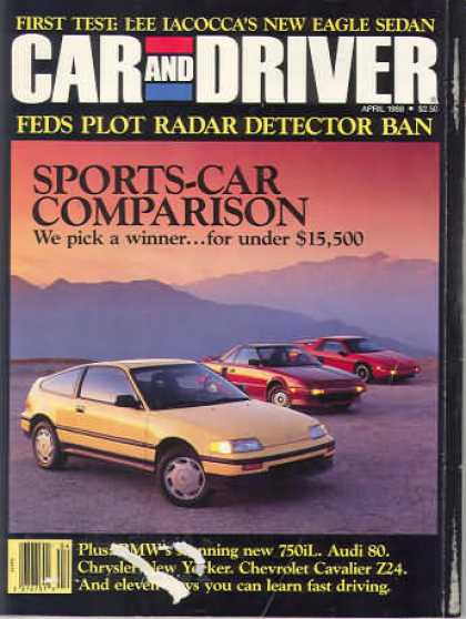 Sports Car Illustrated - April 1988
