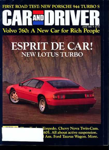 Sports Car Illustrated - June 1988