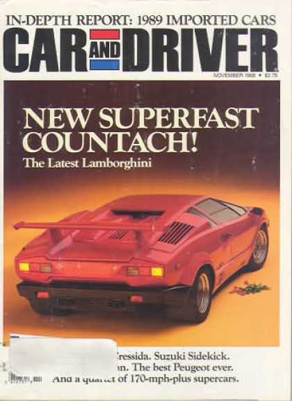 Sports Car Illustrated - November 1988