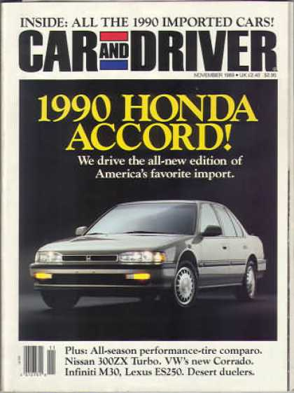 Sports Car Illustrated - November 1989