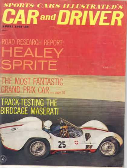 Sports Car Illustrated - April 1961