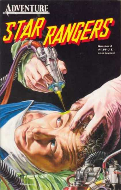 Star Rangers 3 - Adventure - Number 3 - Brain Operation - Man In Shock - Gloved Hands