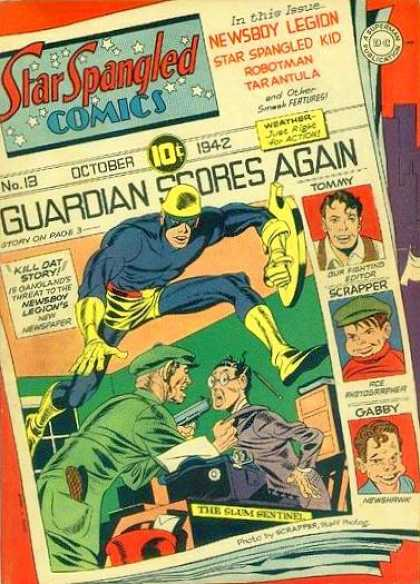 Star Spangled Comics 13 - Guardian Scores Again - October - Scrapper - Gabby - Kill Day Story - Jack Kirby, Joe Simon