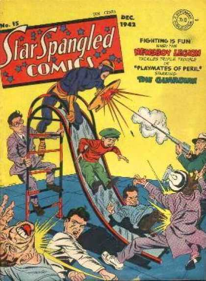 Star Spangled Comics 15 - Fighting - Fun - Playmates - Newsboy League - Slide - Jack Kirby, Joe Simon