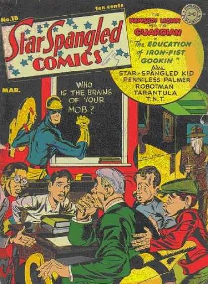 Star Spangled Comics 18 - March - Ten Cents - The Guardian - Iron-fist Gookin - Chalkboard - Jack Kirby, Joe Simon