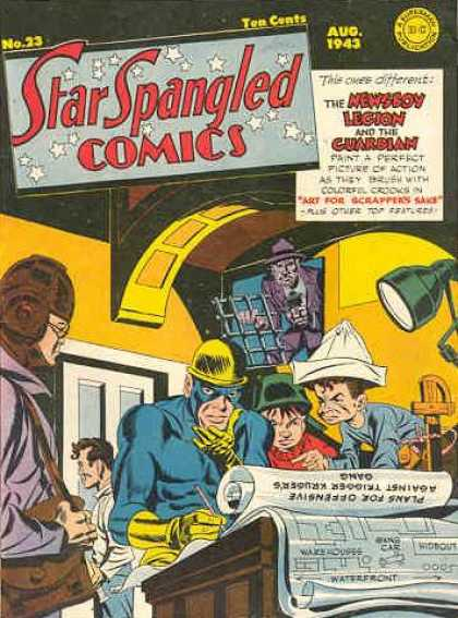 Star Spangled Comics 23 - Newsboy - Guardian - Blueprint - Helmet - Lamp - Jack Kirby