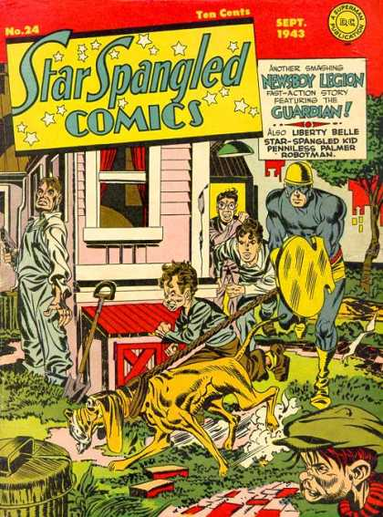 Star Spangled Comics 24 - No 24 - Ten Cents - Sept 1943 - Newsboy Legion - Guardian - Jack Kirby