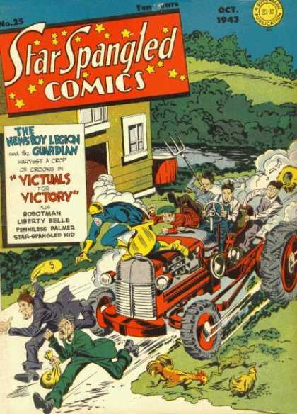 Star Spangled Comics 25 - The Newsboy Legion And The Guardian - Victuals For Victory - Robotman - Liberty Bells - Penniless Palmer - Jack Kirby