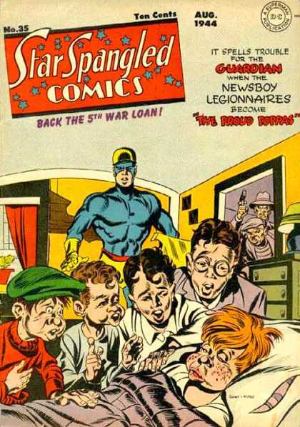 Star Spangled Comics 35 - The Proud Poppas - Newsboy Legionnaires - The Guardian - Back The 5th War Loan - Sick