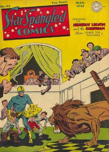 Star Spangled Comics 42 - Dc - Dc Comics - Fight - Lion - Gaurdman - Jack Kirby