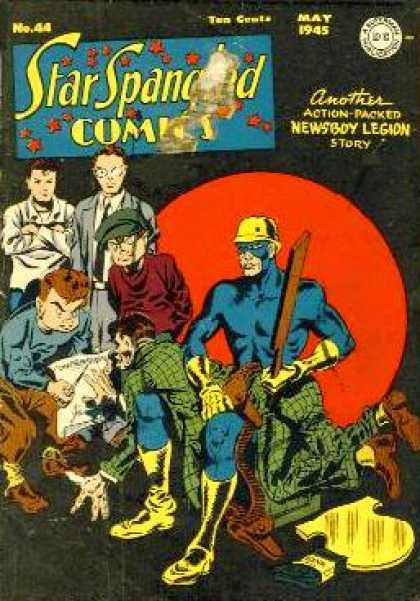 Star Spangled Comics 44 - Newboys Legion - Kids - Plaid Suit - Wooden Paddle - Glasses