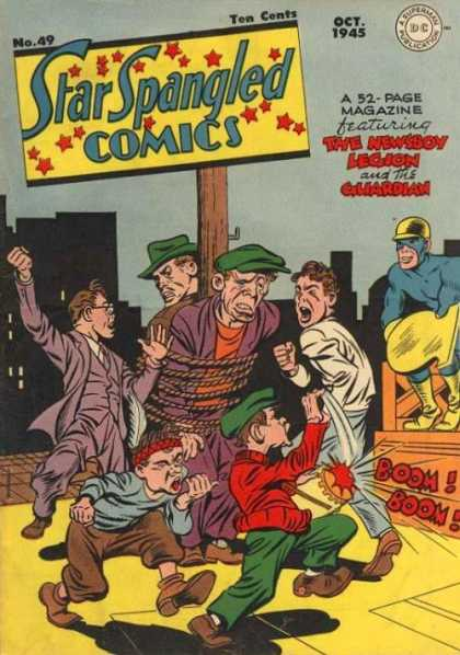Star Spangled Comics 49 - Gang - Star Spangled - Fight - The Newsboy - Guardian