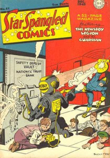 Star Spangled Comics 51 - Robot - The Newsboy Legion - Dc Comics - Bank Vault - Guardian