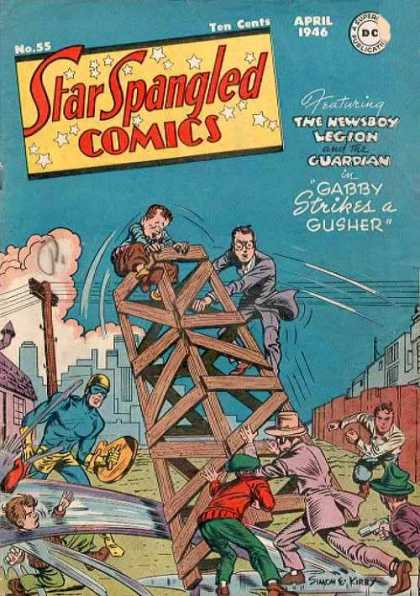 Star Spangled Comics 55 - The Newsboy Legion - The Guardian - Gabby Strikes A Gusher - Oil Well - Men In Suits