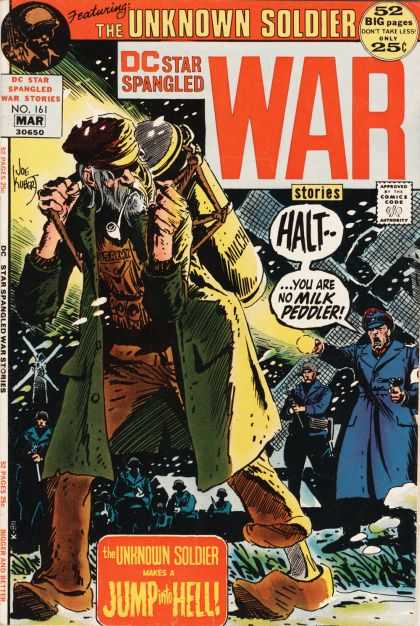 Star Spangled War Stories 161 - The Unknown Soldier - 52 Big Pages - Mar 30650 - Approved By The Comics Code Authority - Hell - Joe Kubert