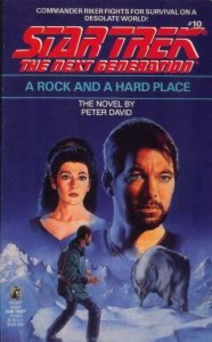 Star Trek Books - A Rock and a Hard Place (Star Trek The Next Generation, No 10)