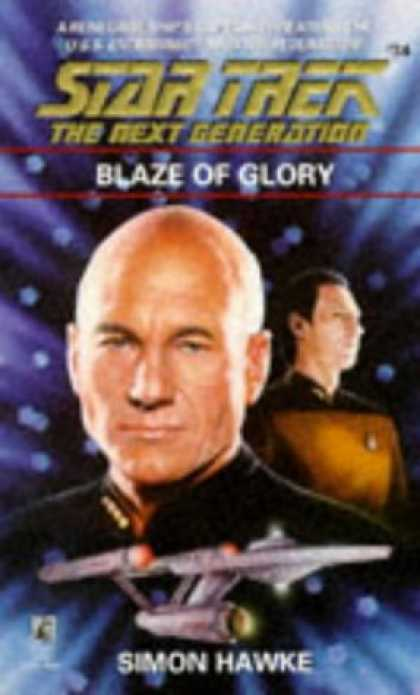 Star Trek Books - Blaze of Glory (Star Trek The Next Generation, No 34)