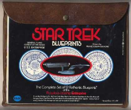 Star Trek Books - Star Trek Blueprints: The Complete Set of 12 Authentic Blueprints of the Fabulou