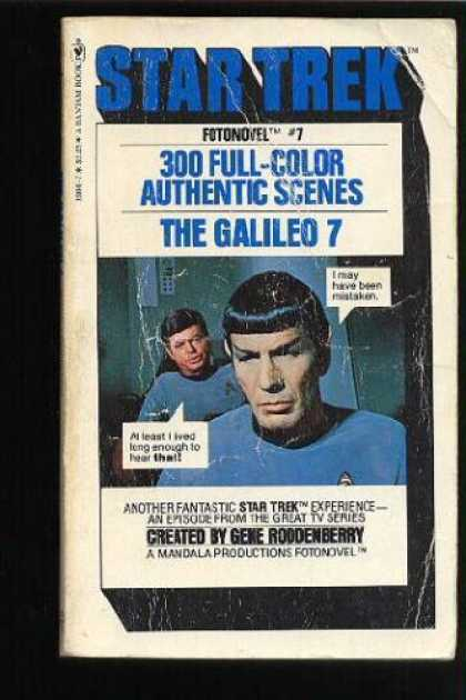 Star Trek Books - Galileo 7 (Star Trek Fotonovel, 7)