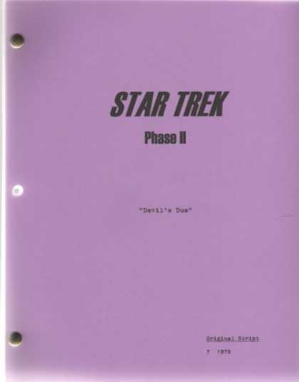 Star Trek Books - Star Trek Phase II Script - Devil's Due ((unaired Series), Original Draft)