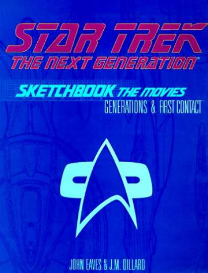 Star Trek Books - Star Trek, the Next Generation Sketchbook: The Movies, Generations & First Conta