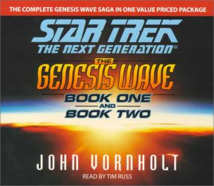 Star Trek Books - The Genesis Wave, Book 1 and 2 (Star Trek: The Next Generation)