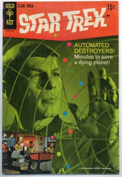 Star Trek 3 - Glass - Green Light - Grid - Colored Dots - Automated Destroyers - Bob Wiacek, George Perez
