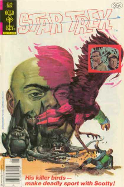 Star Trek 54 - Gold Key - Space - Killer Birds - Scotty - Bird Attack