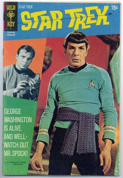 Star Trek 9 - Gold Key - George Washington - Mrspock - Costume - Alien - Dave Cockrum, Josef Rubinstein