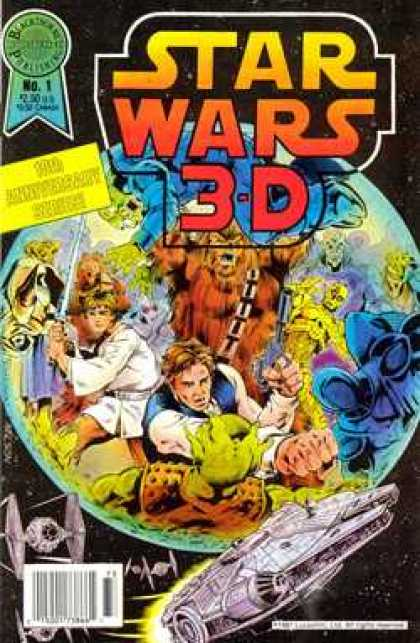 Star Wars 3-D 1 - War - Space - Battle - 3-d - Skywalker