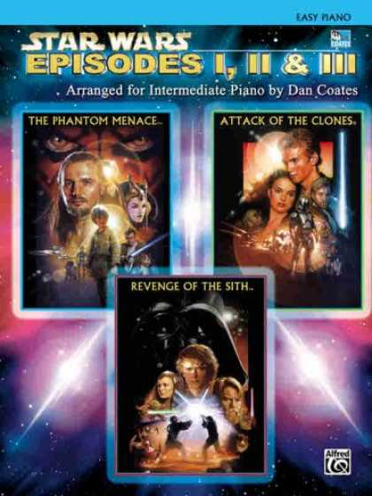 Star Wars Books - Star Wars Episodes I, II, III (Easy-Intermediate Piano Solos)
