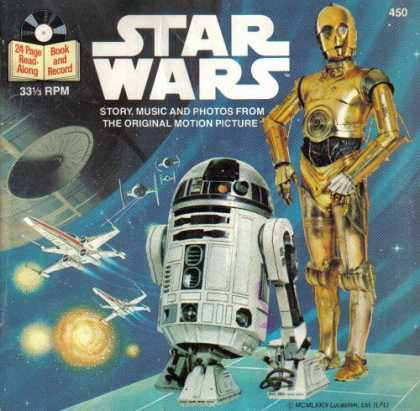 Star Wars Books - STAR WARS (STORY, MUSIC AND PHOTOS FROM THE ORIGINAL MOTION PICTURE, READ ALONG