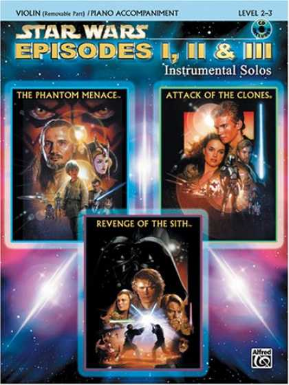 Star Wars Books - Star Wars Episodes I, II & III Instrumental Solos Book & CD (Violin & Piano Acc.