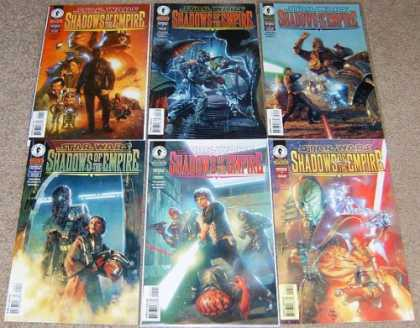 Star Wars Books - Star Wars Shadows of the Empire #1, 2, 3, 4, 5 and 6. (The Complete Six Part Lim
