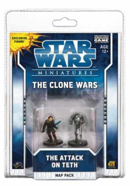 Star Wars Books - The Clone Wars: The Attack on Teth: A Star Wars Miniatures Map Pack (Star Wars M