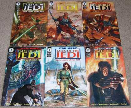 Star Wars Books - Star Wars Tales of the Jedi Dark Lords of the Sith # 1, 2, 3, 4, 5 and 6. (The C