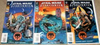 Star Wars Books - Star Wars Starfighter Crossbones #1, 2 and 3. (The Complete Three Part Limited S