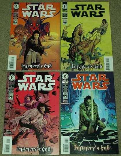 Star Wars Books - Star Wars Infinity's End # 1, 2, 3 and 4 (Issues 23, 24, 25 and 26.) (The Comple